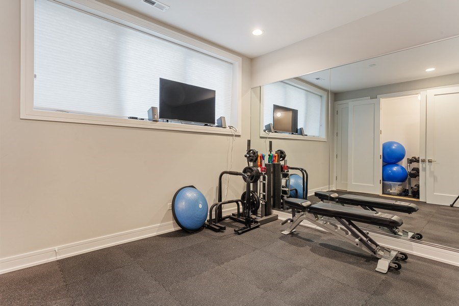 Real Estate Photography - 2435 W Homer, Unit 1E, Chicago, IL, 60647 - Gym/ Middle Bedroom