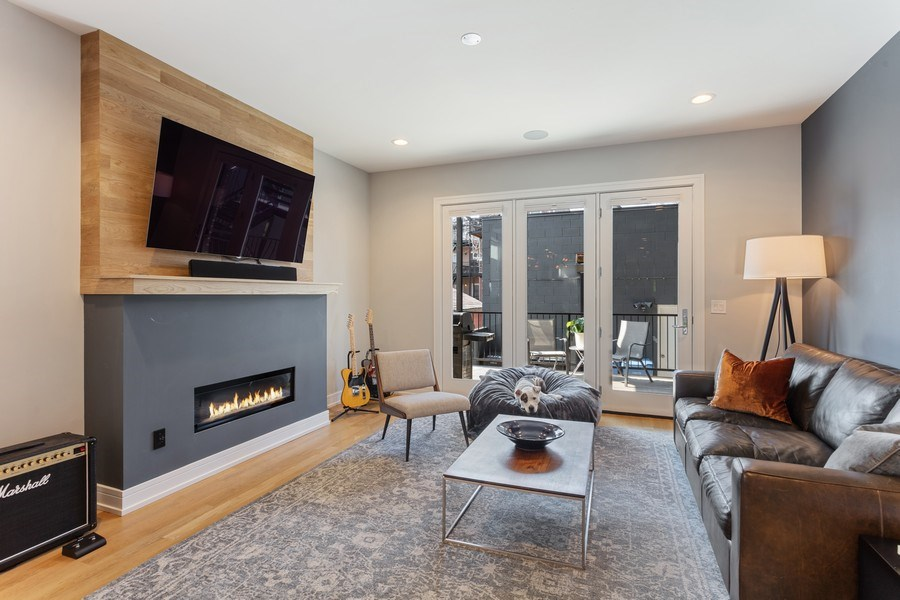 Real Estate Photography - 2435 W Homer, Unit 1E, Chicago, IL, 60647 - Family Room