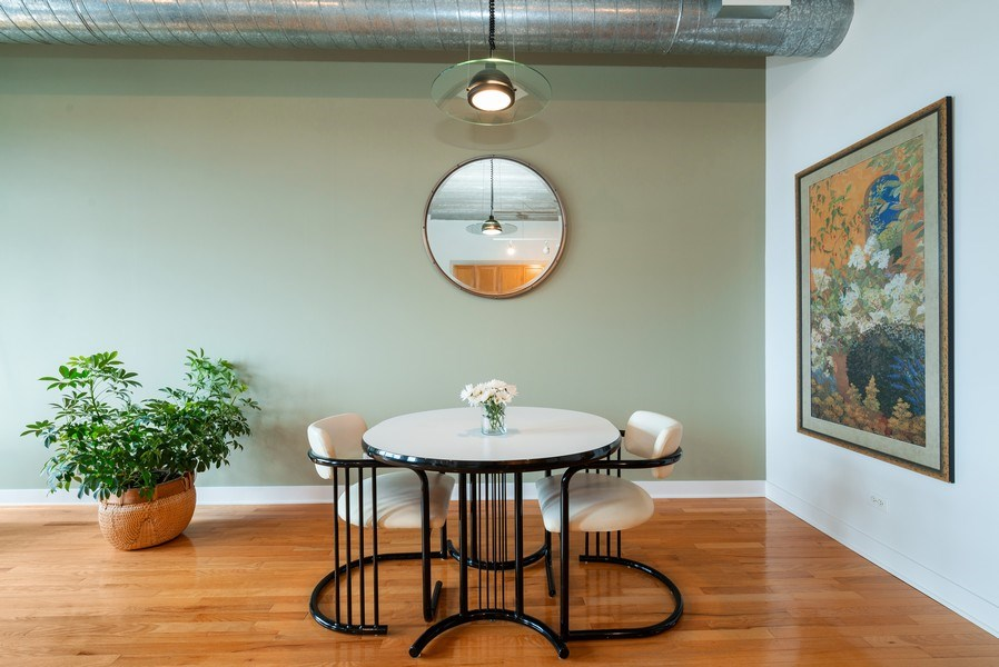 Real Estate Photography - 1635 W. Belmont #617, Chicago, IL, 60657 - Dining Room