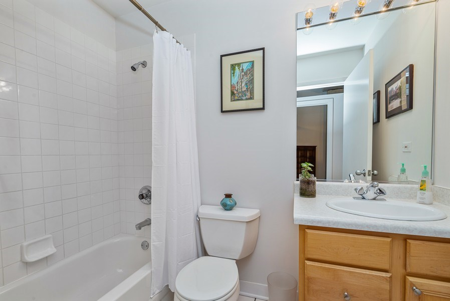 Real Estate Photography - 1635 W. Belmont #617, Chicago, IL, 60657 - Bathroom
