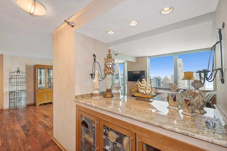 Real Estate Photography - 195 N Harbor Dr, 5201, Chicago, IL, 60601 - Living Room