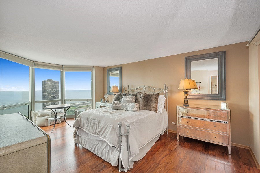 Real Estate Photography - 195 N Harbor Dr, 5201, Chicago, IL, 60601 - Master Bedroom