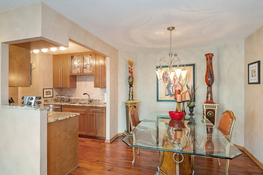 Real Estate Photography - 195 N Harbor Dr, 5201, Chicago, IL, 60601 - Dining Room