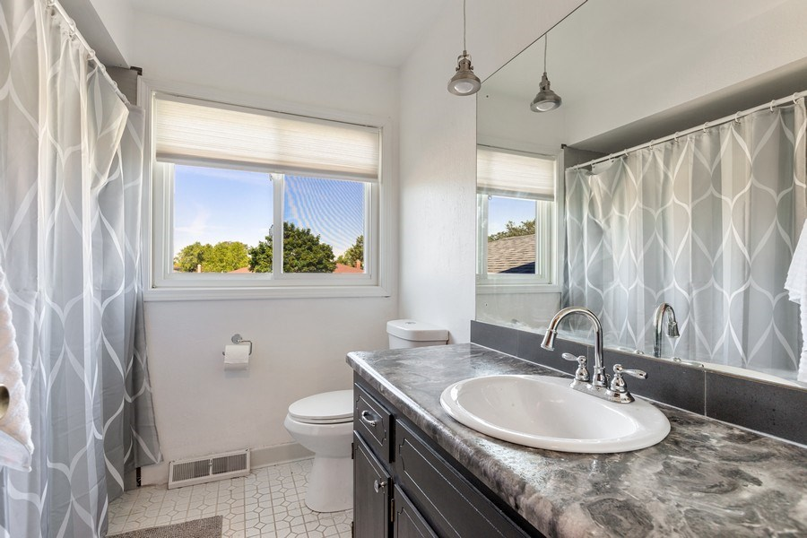 Real Estate Photography - 7701 Blackberry Lane, Willowbrook, IL, 60527 - Family Bathroom (Second Level)