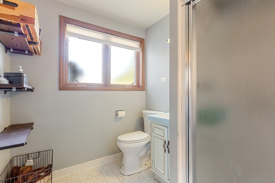 Real Estate Photography - 7701 Blackberry Lane, Willowbrook, IL, 60527 - Full Bathroom (Lower Level)