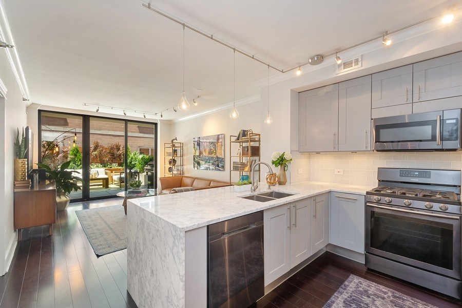 Real Estate Photography - 744 N. Clark St., Apt. 304, Chicago, IL, 60654 - Kitchen