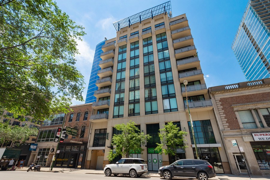 Real Estate Photography - 744 N. Clark St., Apt. 304, Chicago, IL, 60654 - Front View