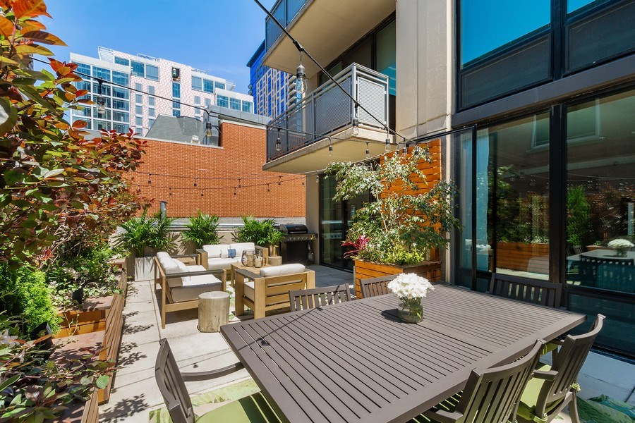 Real Estate Photography - 744 N. Clark St., Apt. 304, Chicago, IL, 60654 - Deck