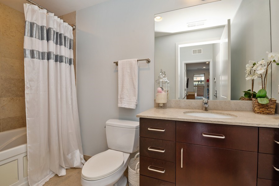 Real Estate Photography - 150 W. Superior St., 702, Chicago, IL, 60654 - 2nd Bathroom