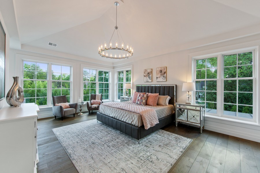 Real Estate Photography - 610 S Oak St, Hinsdale, IL, 60521 - Master Bedroom