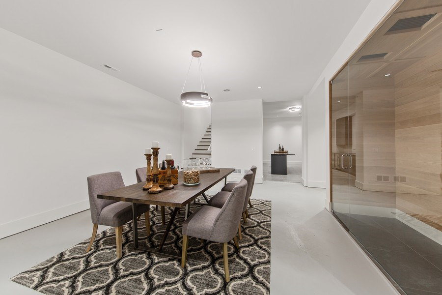 Real Estate Photography - 610 S Oak St, Hinsdale, IL, 60521 - Wine Cellar