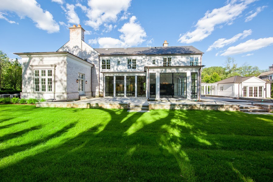 Real Estate Photography - 610 S Oak St, Hinsdale, IL, 60521 - Rear View