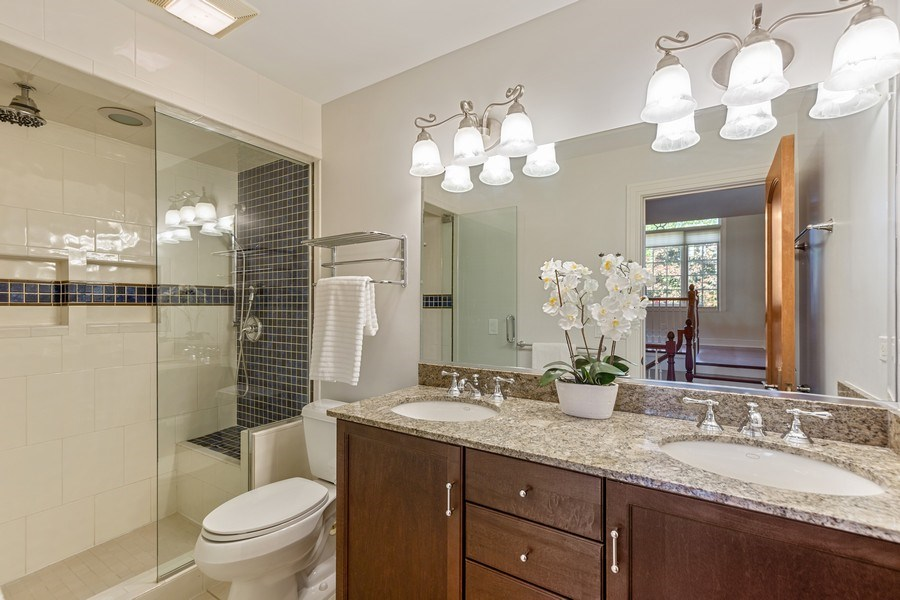 Real Estate Photography - 6012 Sedgley Ct, Burr Ridge, IL, 60527 - 3rd Bathroom