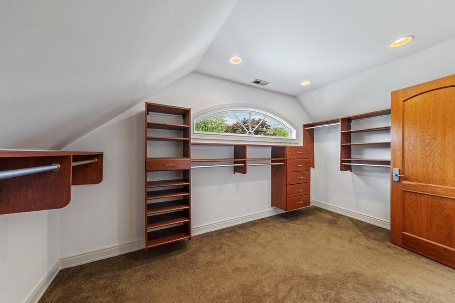 Real Estate Photography - 6012 Sedgley Ct, Burr Ridge, IL, 60527 - Master Bedroom Closet