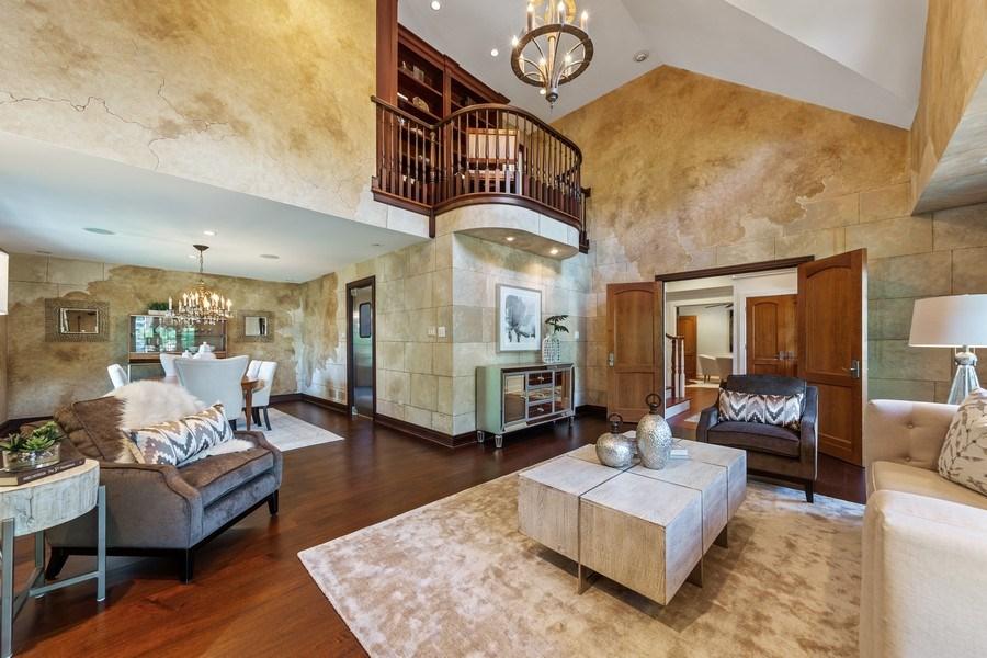 Real Estate Photography - 6012 Sedgley Ct, Burr Ridge, IL, 60527 - Living Room / Dining Room