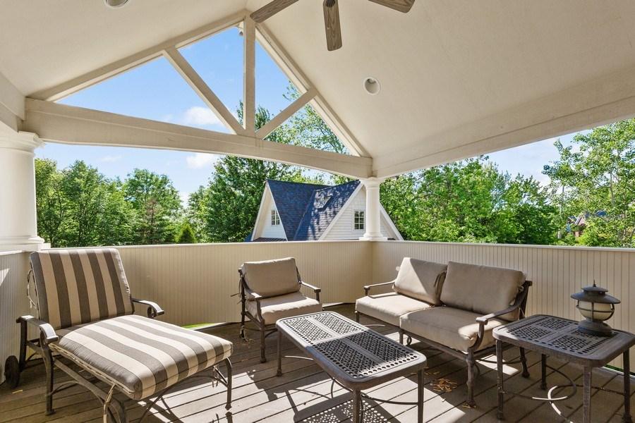 Real Estate Photography - 6012 Sedgley Ct, Burr Ridge, IL, 60527 - Balcony