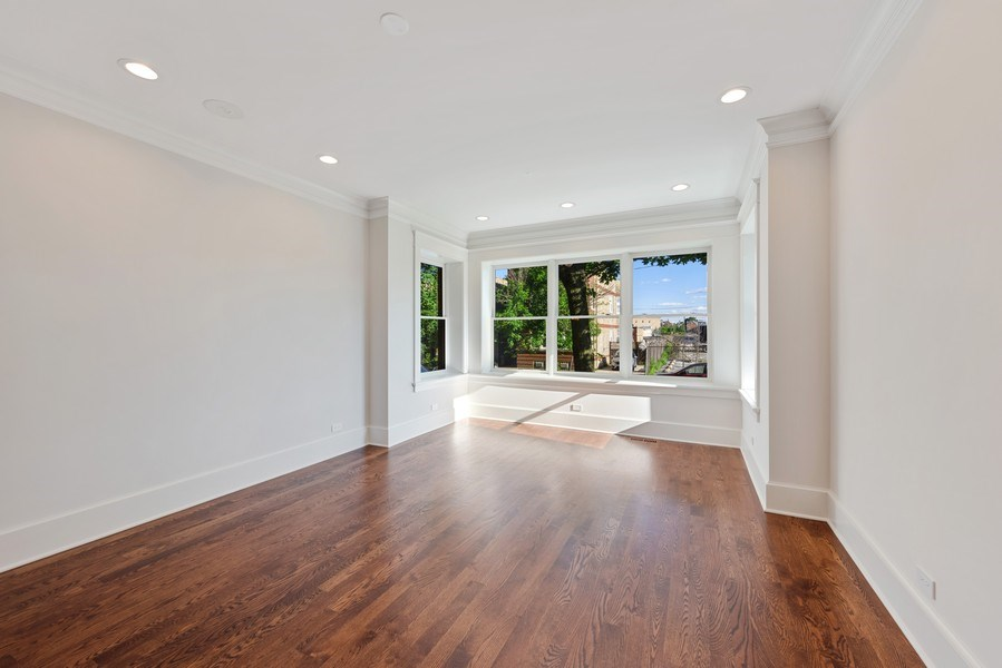 Real Estate Photography - 2342 W Melrose St, Chicago, IL, 60618 - Living Room