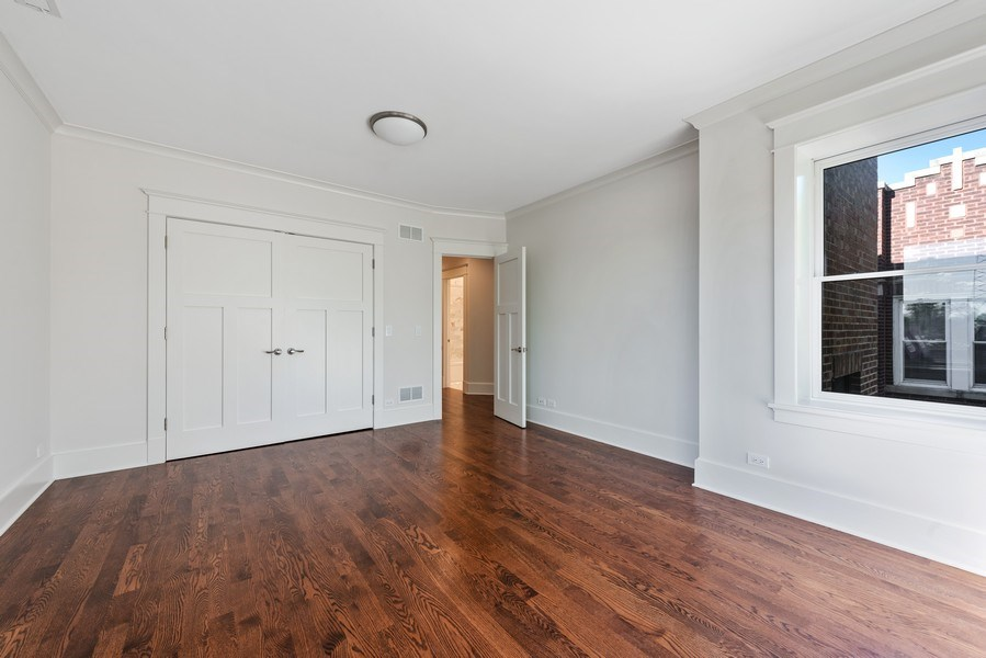 Real Estate Photography - 2342 W Melrose St, Chicago, IL, 60618 - 2nd Bedroom