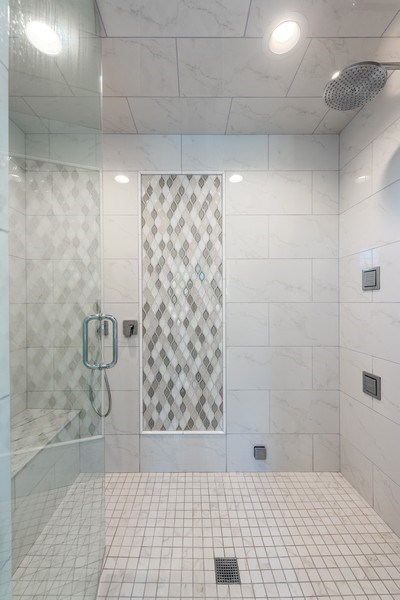 Real Estate Photography - 2342 W Melrose St, Chicago, IL, 60618 - Master Bathroom