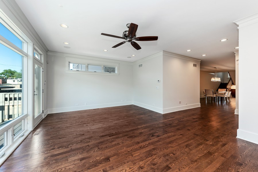 Real Estate Photography - 2342 W Melrose St, Chicago, IL, 60618 - Family Room