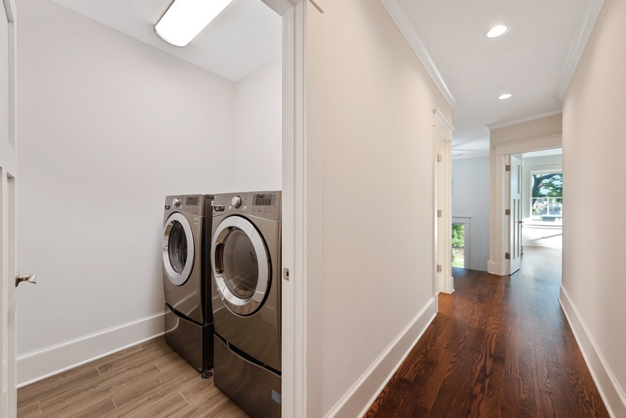 Real Estate Photography - 2342 W Melrose St, Chicago, IL, 60618 - Laundry Room