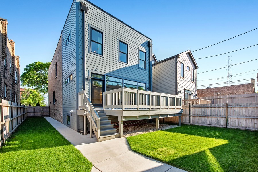Real Estate Photography - 2342 W Melrose St, Chicago, IL, 60618 - Rear View