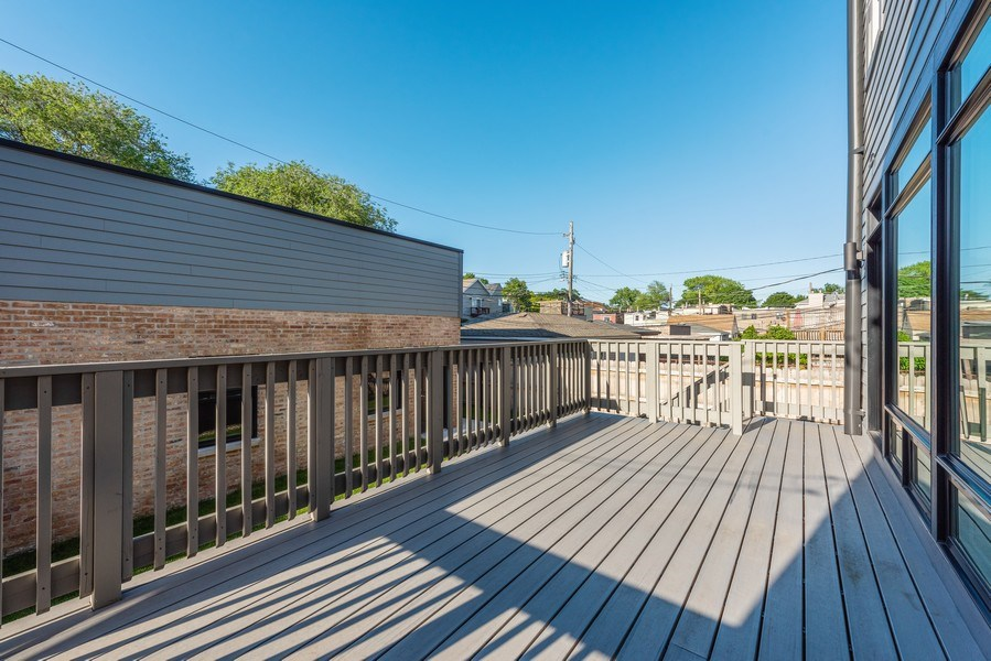 Real Estate Photography - 2342 W Melrose St, Chicago, IL, 60618 - Deck