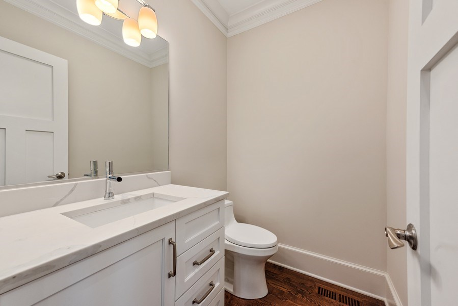 Real Estate Photography - 2342 W Melrose St, Chicago, IL, 60618 - Half Bath
