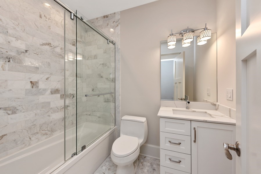 Real Estate Photography - 2342 W Melrose St, Chicago, IL, 60618 - 2nd Bathroom