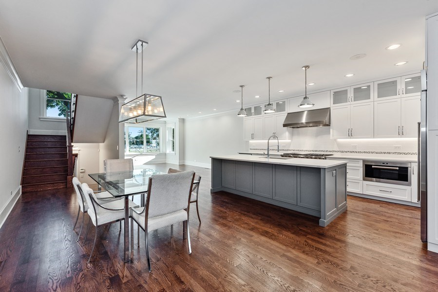 Real Estate Photography - 2342 W Melrose St, Chicago, IL, 60618 - Kitchen / Dining Room