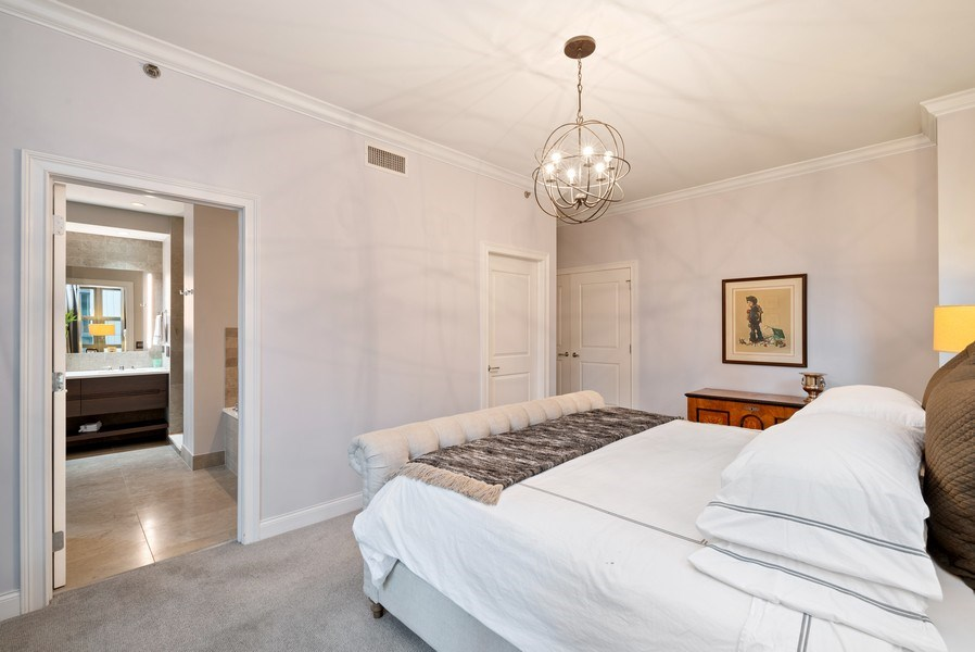 Real Estate Photography - 1035 N Dearborn #6E, Chicago, IL, 60610 - Master Bedroom