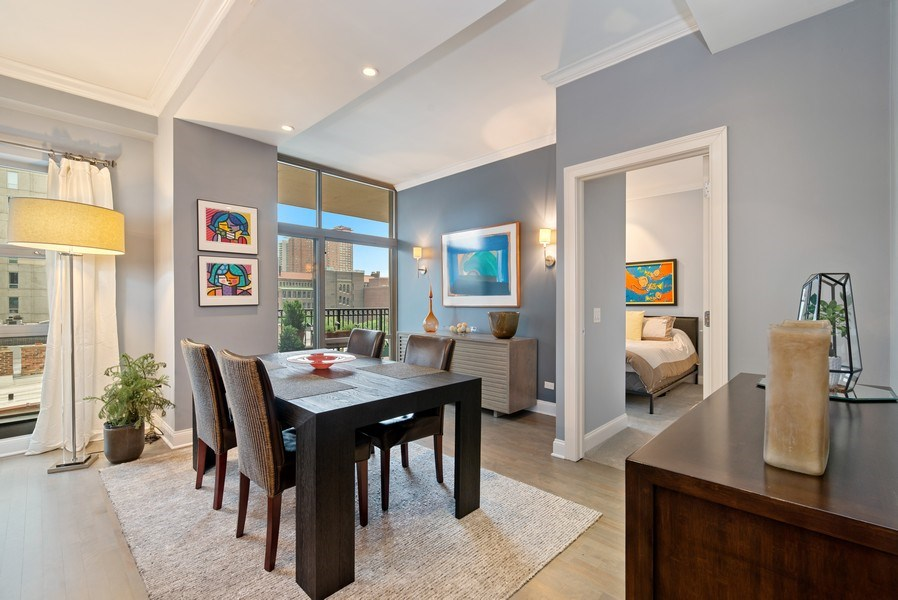 Real Estate Photography - 1035 N Dearborn #6E, Chicago, IL, 60610 - Dining Room
