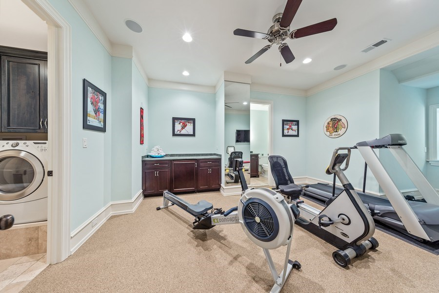 Real Estate Photography - 618 S Park Ave., Hinsdale, IL, 60521 - Fitness Room