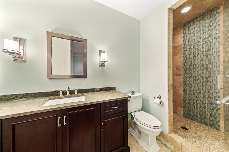 Real Estate Photography - 618 S Park Ave., Hinsdale, IL, 60521 - Fitness Room Bathroom