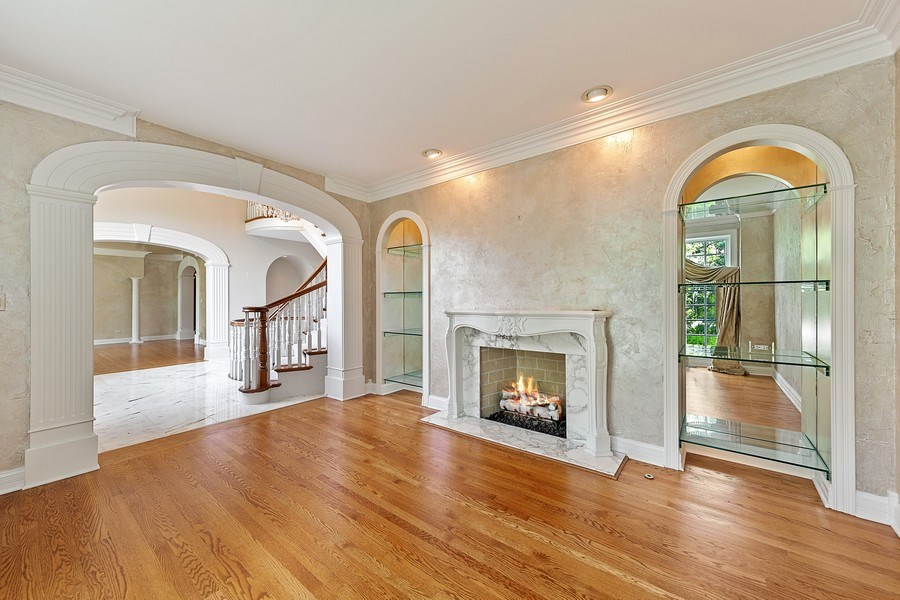 Real Estate Photography - 501 Ambriance Dr, Burr Ridge, IL, 60527 - Living Room