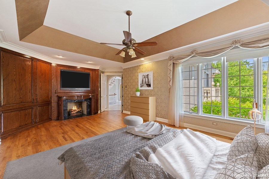 Real Estate Photography - 501 Ambriance Dr, Burr Ridge, IL, 60527 - Master Bedroom