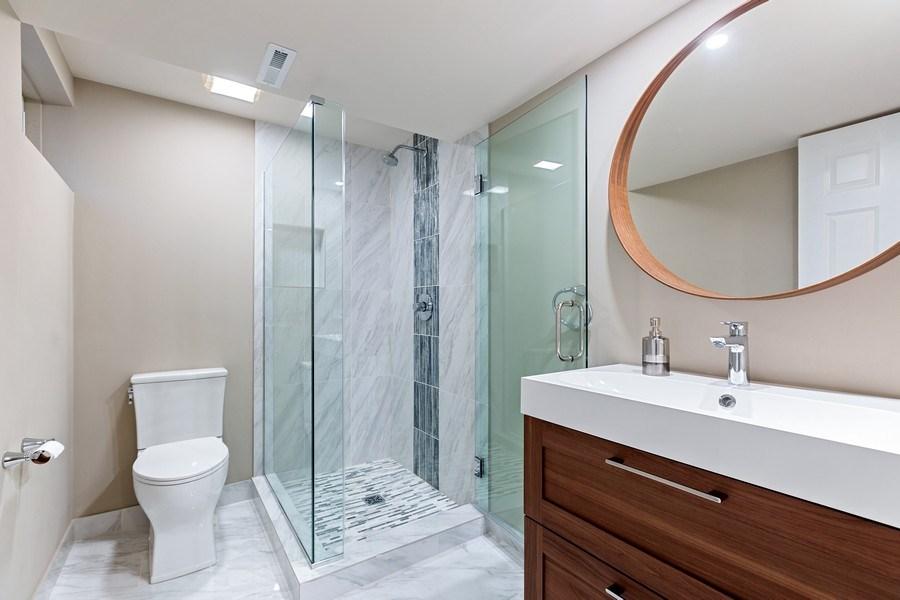 Real Estate Photography - 305 Columbine Drive, Clarendon Hills, IL, 60514 - Basement Bathroom