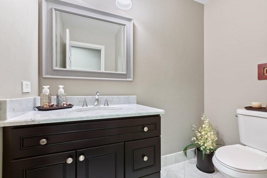 Real Estate Photography - 305 Columbine Drive, Clarendon Hills, IL, 60514 - Powder Room