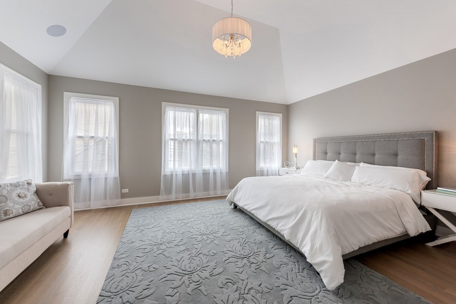Real Estate Photography - 4102 N Oakley, Chicago, IL, 60618 - Master Bedroom