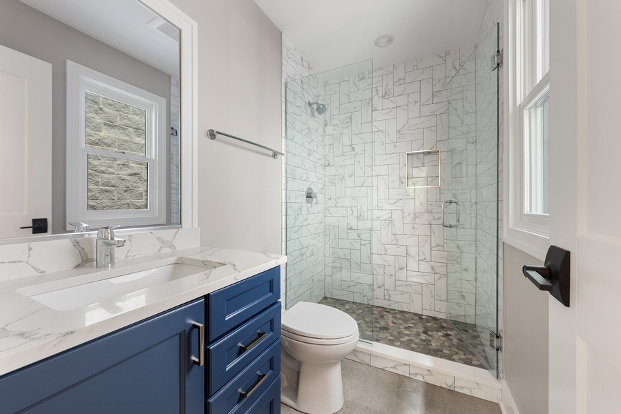 Real Estate Photography - 4102 N Oakley, Chicago, IL, 60618 - 2nd Bathroom