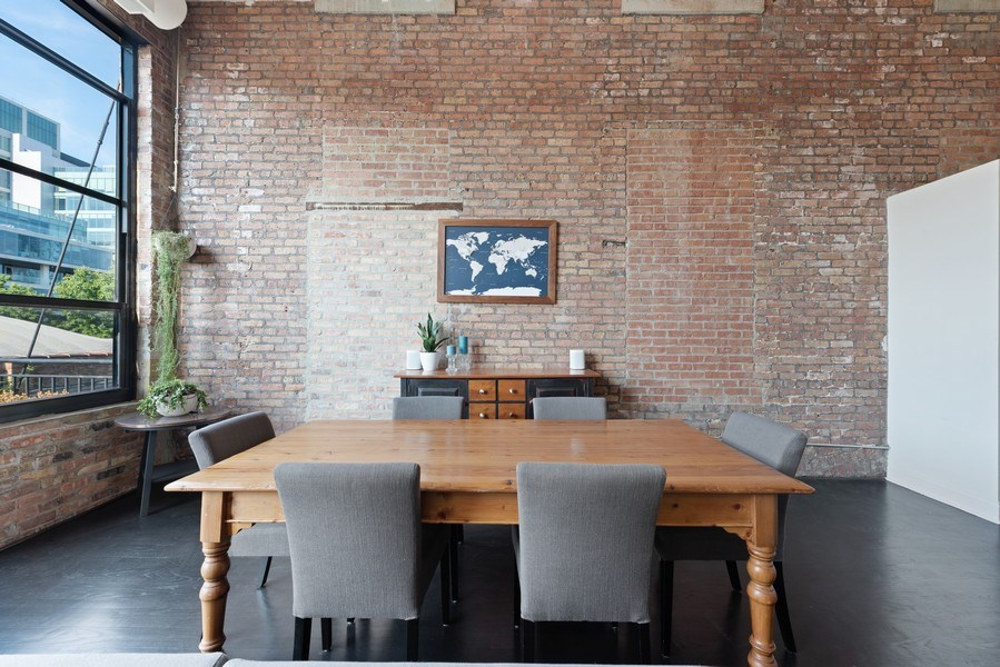 Real Estate Photography - 215 N. Aberdeen Unit 311A, Chicago, IL, 60607 - Dining Room