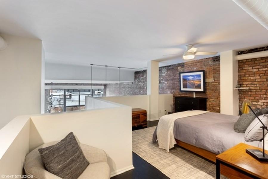 Real Estate Photography - 215 N. Aberdeen Unit 311A, Chicago, IL, 60607 - Master Bedroom