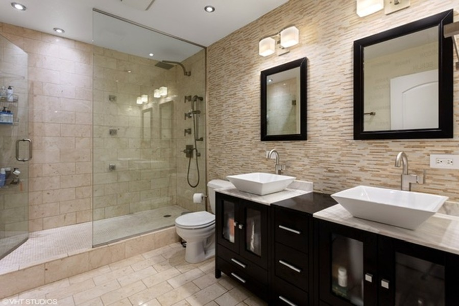Real Estate Photography - 215 N. Aberdeen Unit 311A, Chicago, IL, 60607 - Master Bathroom