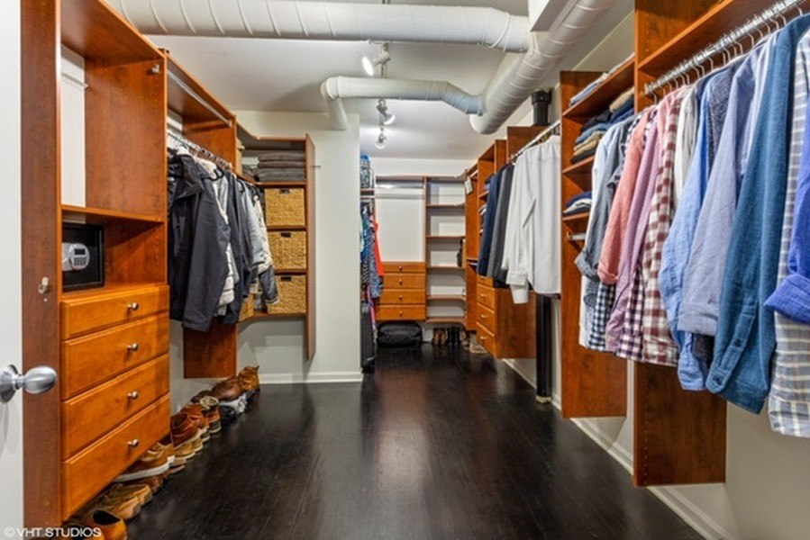 Real Estate Photography - 215 N. Aberdeen Unit 311A, Chicago, IL, 60607 - Master Closet