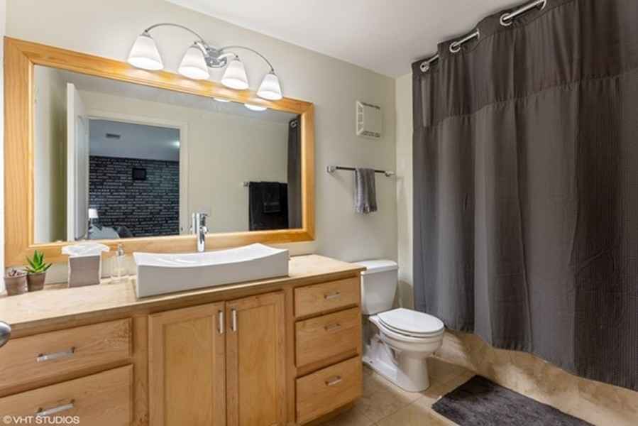 Real Estate Photography - 215 N. Aberdeen Unit 311A, Chicago, IL, 60607 - 2nd Bathroom