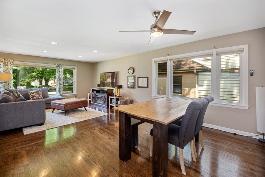 Real Estate Photography - 1513 Hoffman Ave, Park Ridge, IL, 60068 - Living Room/Dining Room