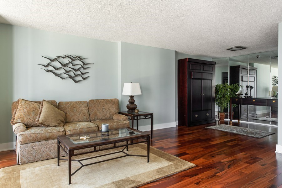 Real Estate Photography - 195 N Harbor Dr, 1209, Chicago,, IL, 60601 - Living Room