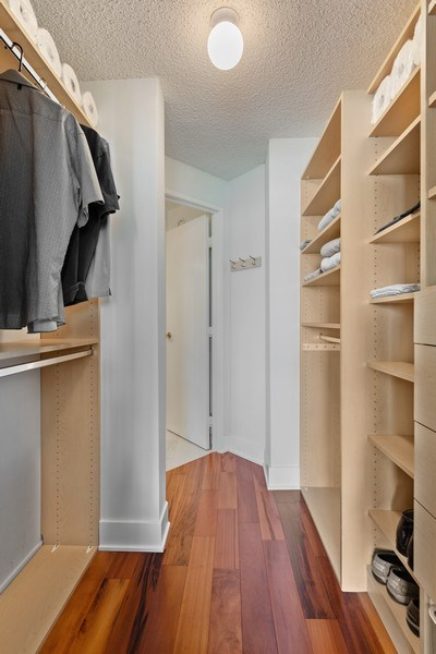 Real Estate Photography - 195 N Harbor Dr, 1209, Chicago,, IL, 60601 - Master Bedroom Closet
