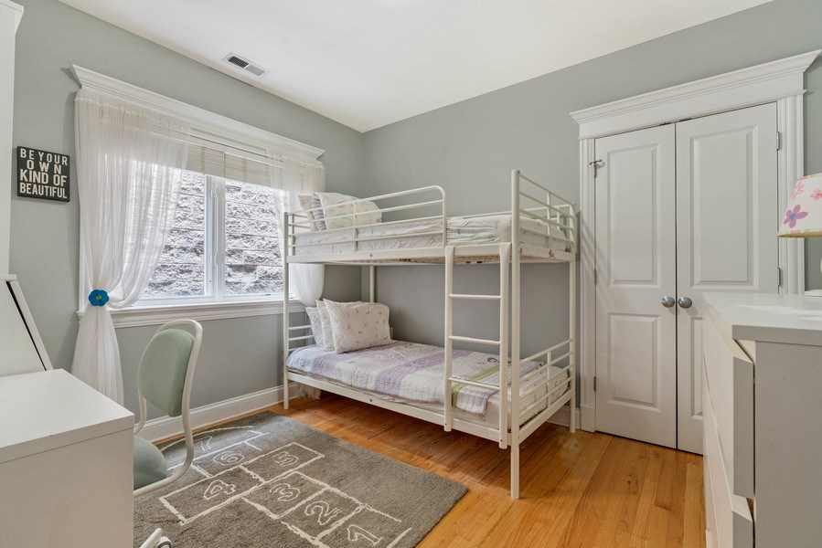 Real Estate Photography - 848 W Roscoe #3, Chicago, IL, 60657 - 2nd Bedroom