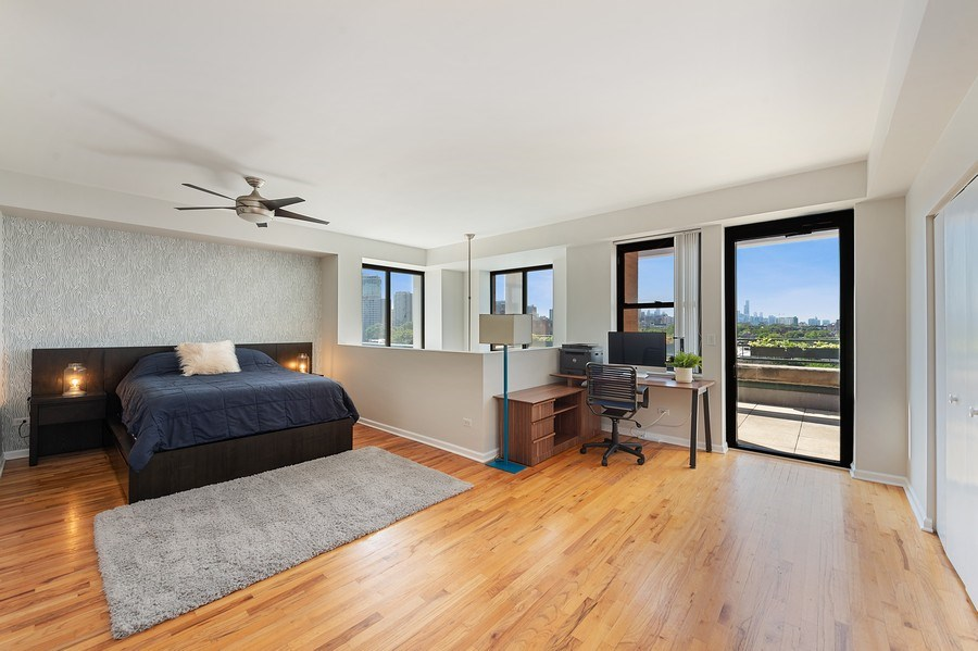 Real Estate Photography - 3631 N Halsted Street #512, Chicago, IL, 60613 - Master Bedroom